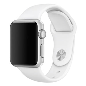 Soft Silicone Sport Style Replacement iWatch Strap Band for Apple Wrist Smart Watch (White/42mm)