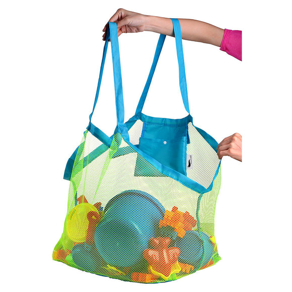 Extra Large Mesh Sandproof and Waterproof Storage Beach Bag Tote - Perfect for Kids Toys Towels and everything else.