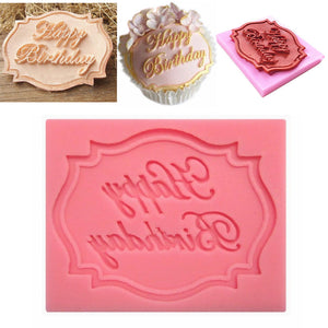 Happy Birthday Silicone Cake Fondant Mould Decorating Chocolate Baking Mold Cute