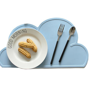 Food Grade Silicone Slip Resistant Cloud Placemat for Baby/Kid/Children