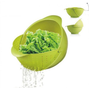 Home Durable Fruit Vegetables Washing Funnel Kitchen Tool Basket Drain Organizer