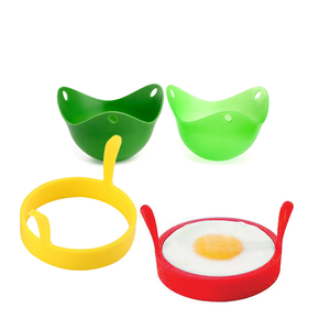 Egg Poachers and Fried Egg Silicone Rings Perfect Egg Frying Pack