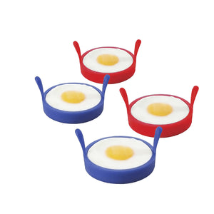 Pack of 4 x Fried Egg Silicone Rings