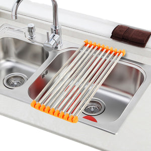 Over the Sink Rollable Foldable Space Saving Kitchen Drying Dish Rack