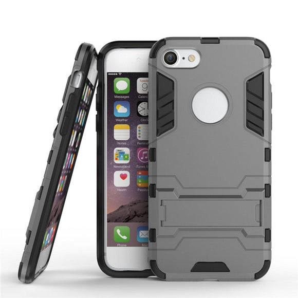 iPhone 7 Plus Case HEAVY DUTY Iron Case Premium Shockproof Kickstand Bumper [MILITARY DEFENDER] Full-body Rugged Dual Layer Cover