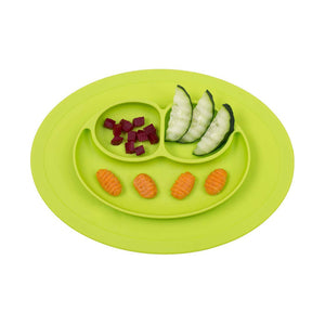 Mess-Less Baby Mini Mat - One-piece silicone placemat + plate
