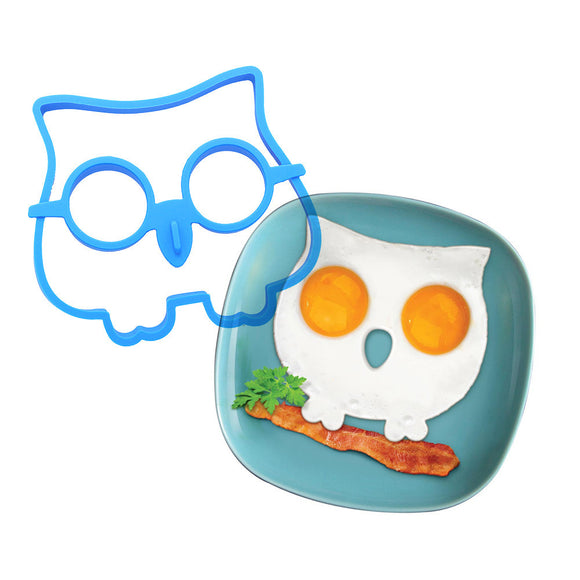 Funny Brekky Fried Egg Owl Mould