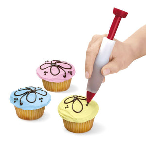 Silicone Cake Pen DIY Pastry Cookie Decorating Cream Syringe Pen Baking Tool