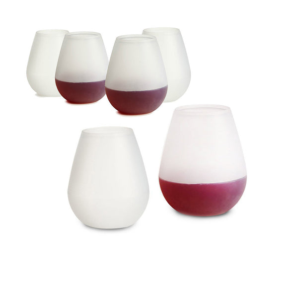 Set Of 6 Unbreakable Silicone Wonder Wine Glass