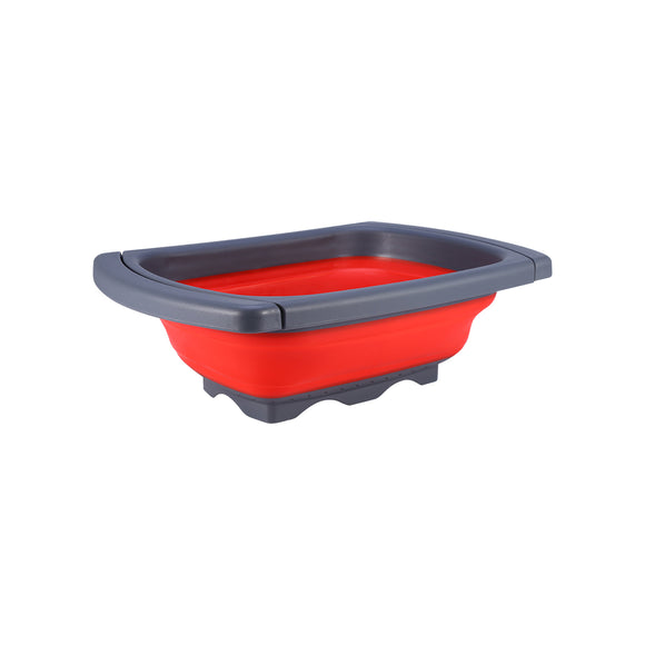 Collapsible Folding Silicone Kitchen Sink Space Saving Foldable Food Strainer