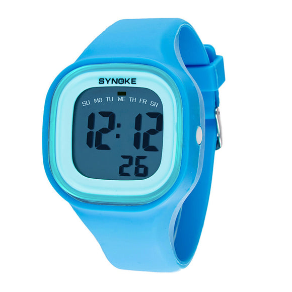 Jelly Diving & Swimming Waterproof Digital Watches Wrist Sports with Alarm Chronograph Long lasting battery Calendar Noctilucent (Blue)