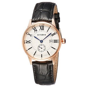 Fashion Watches Men Quartz Watch Male Wristwatches (Gold & Black)
