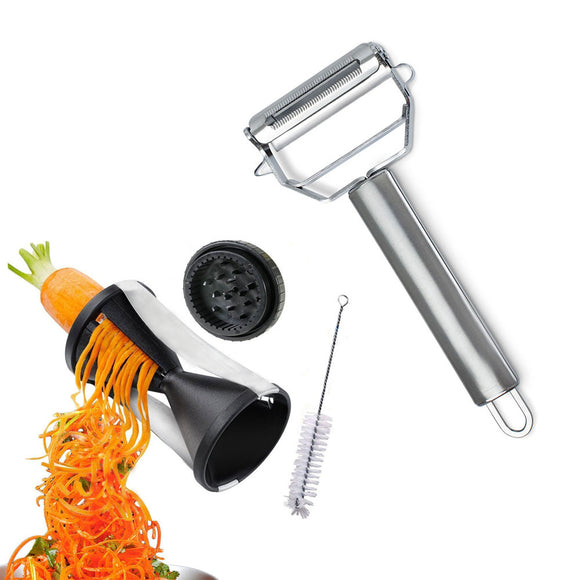 Ultimate Prep Chef Peeler and Garnish Grater Kitchen Tools with Free Gadget Cleaner