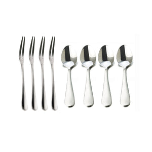 Stainless Steel Table Serving Spoons and Forks Set (Set of 8)