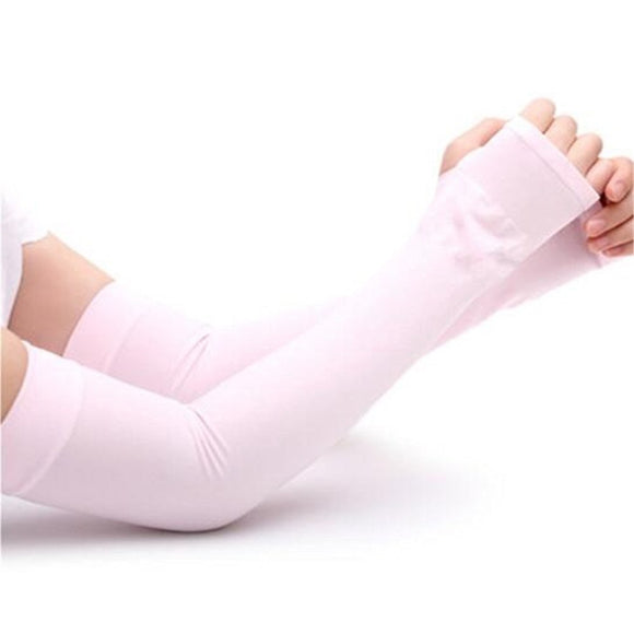 Pink Sun Protection Arm Cooling Sleeve-1 Pair