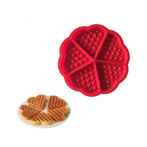 Silicone Waffle Maker Heart Shape Baking Mould