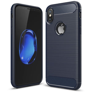 iPhone 7/8 4.7 inch Carbon Fibre Full Protection Cover Drop Safe Shock Absorbing Back Case