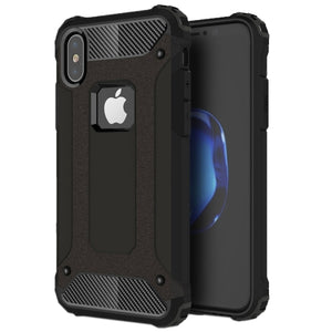 Rugged Armour iPhone X Case - Toughest Lightweight Protection - Dual Design Slim TPU PC Combination Cover