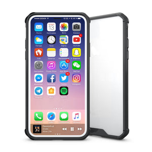 Clear Shockproof iPhone X Case - Transparent Slim TPU Protective Cover