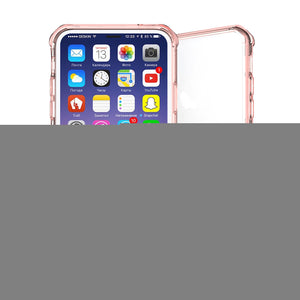 iPhone X Transparent Shockproof TPU Protective Back Cover Case