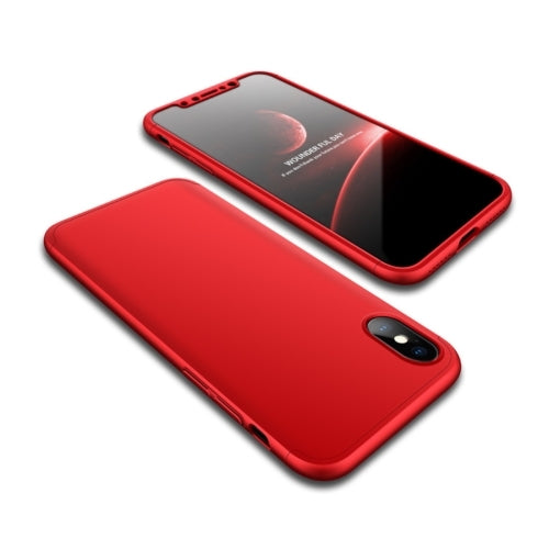 Ultra-Slim iPhone X Full Protection Case -360 Degree Impact Resistant - Shockproof Protection Cover (Red)