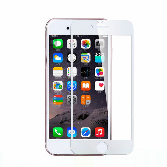 iPhone 8 iPhone 7 Tempered Glass 3D Full Screen Protection Screen - White