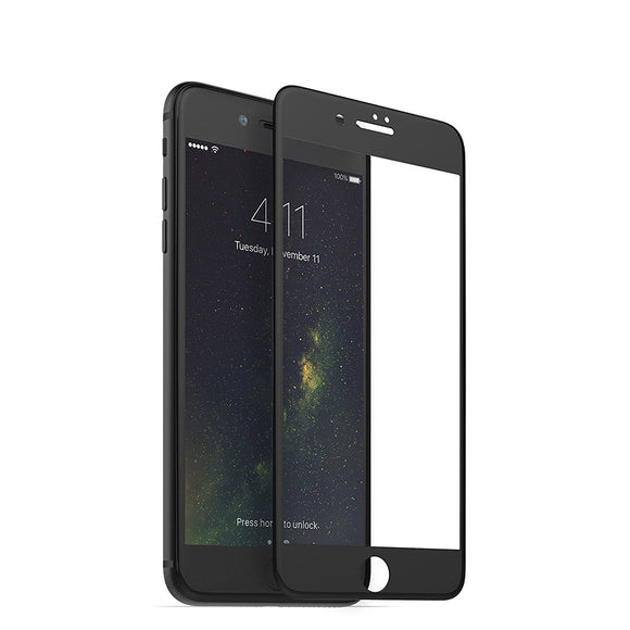 iPhone 8 Plus 7 Plus Tempered Glass 3D Full Screen Protection Screen - Black