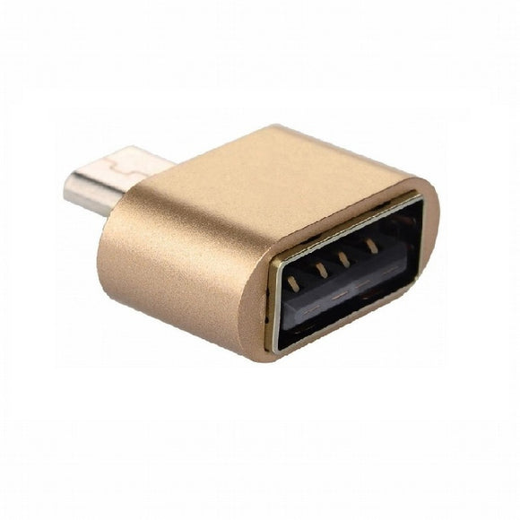 Micro USB Male to USB Female Cable Adapter For Samsung Android Smarphonephone Tablet (Gold)