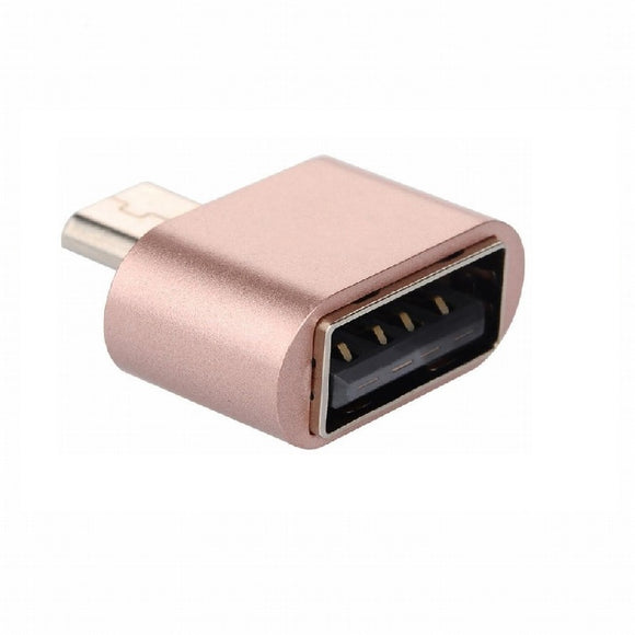 Micro USB Male to USB Female Cable Adapter For Samsung Android Smarphonephone Tablet (Rose gold)