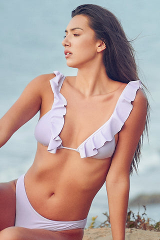 Tiffany Ruffled Top Bikini Set