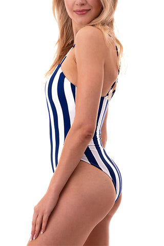 Striped One Piece Swimsuit | Front