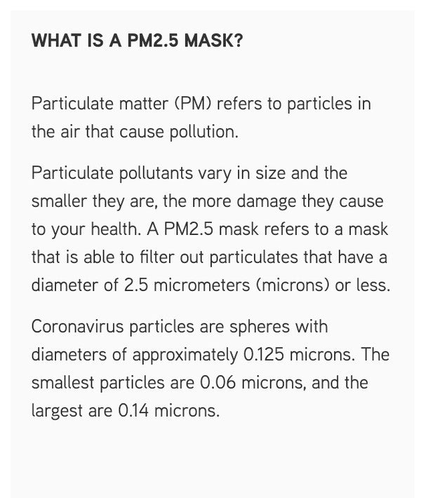 [Adults']  Washable face mask with PM2.5 filter pads package