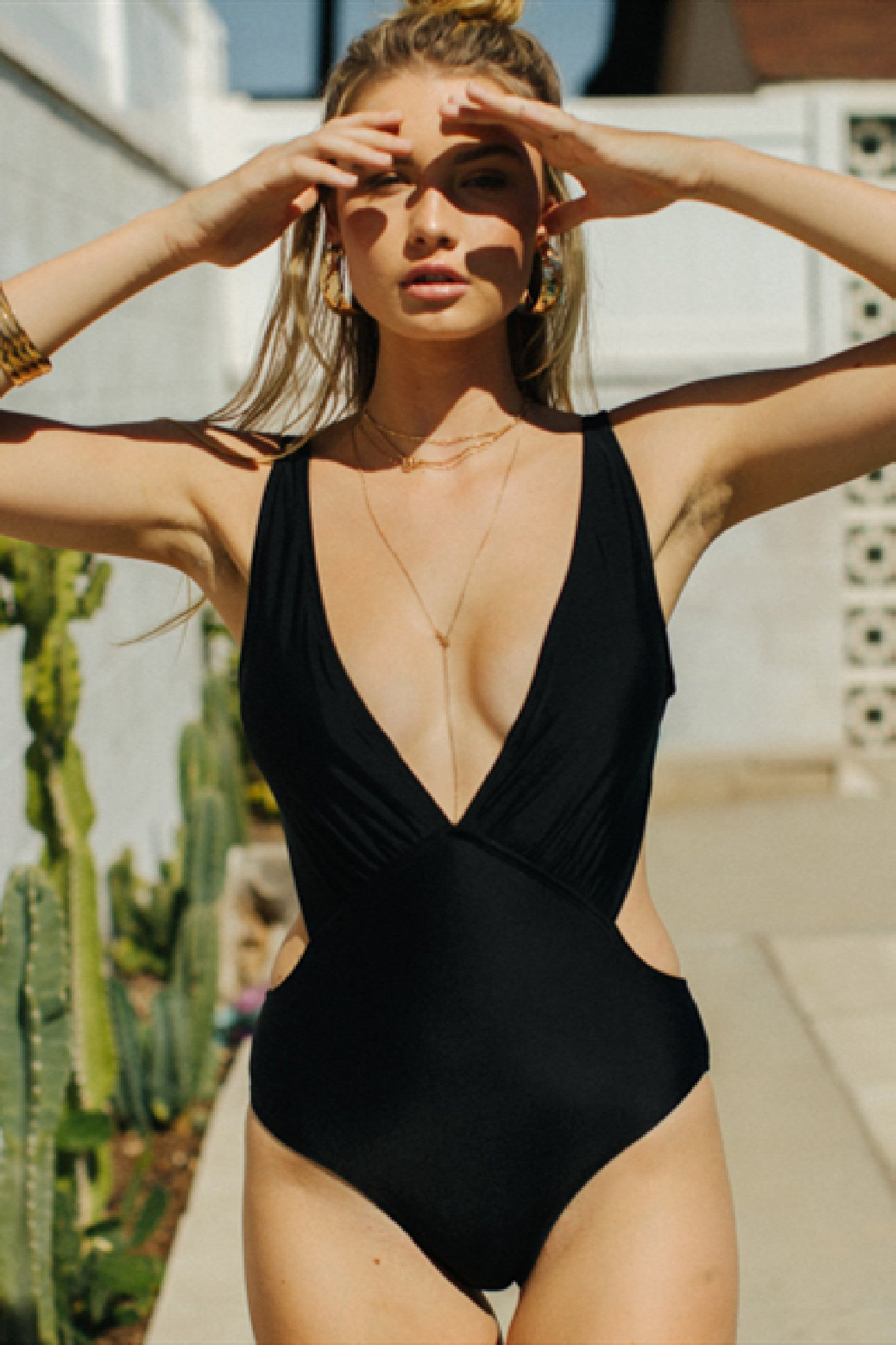 Plunged Neck One Piece