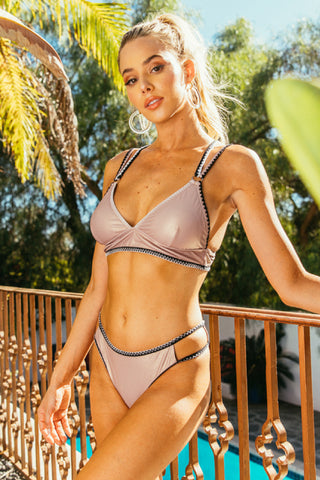 Stella Metallic Bralette Swim Set