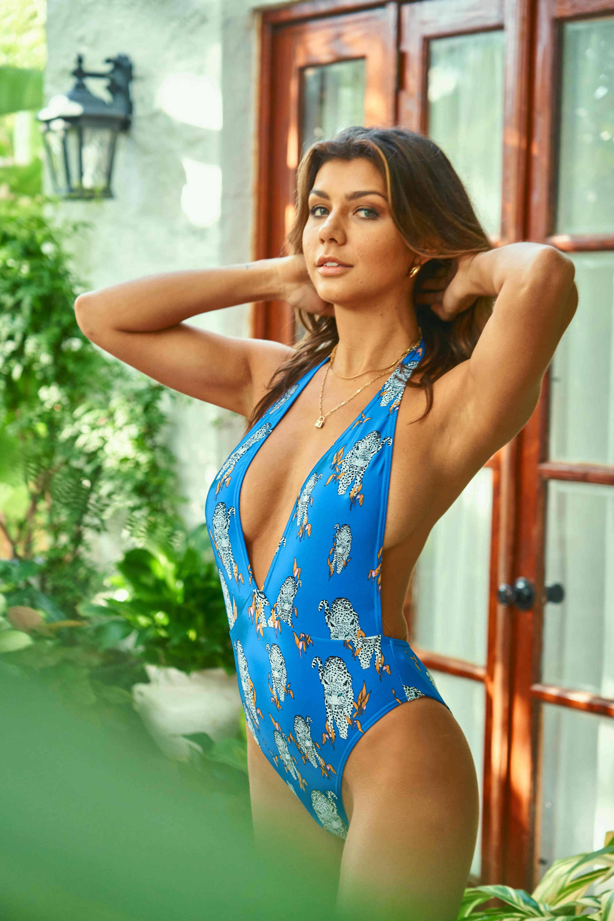 Halter Neck Backless One-Piece