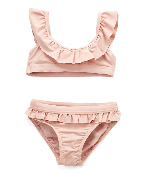 Girls off-the-shoulder Ruffle swimsuit