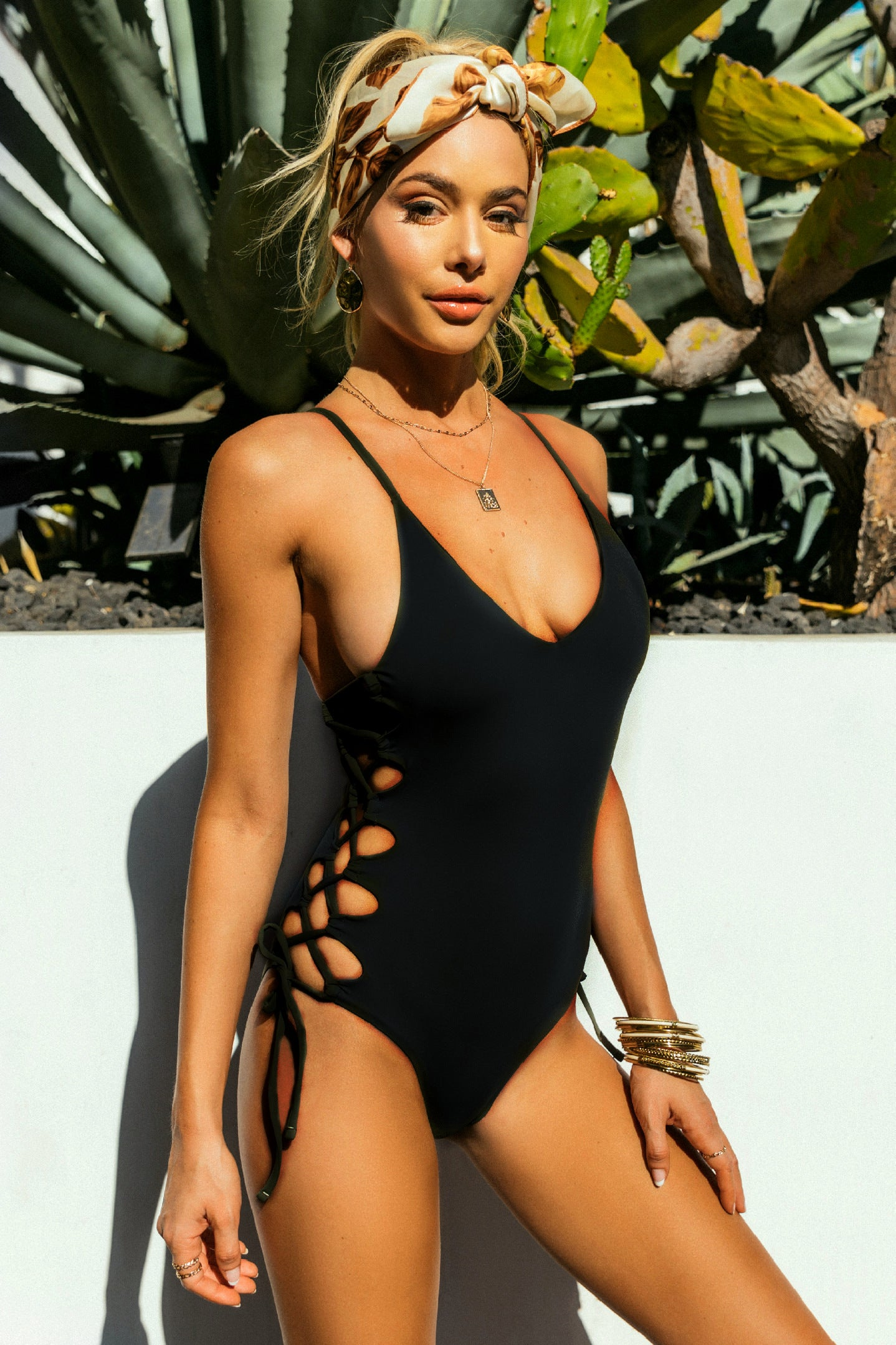 Seamless Lace Up One-Piece