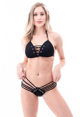 Strappy Luxe Ribbed Bikini Set