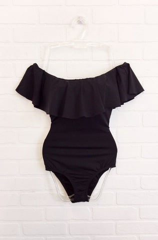 Ruffled Off Shoulder Monokini