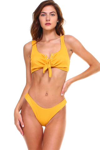 Paola Luxe Ribbed Button Up Tankini Set