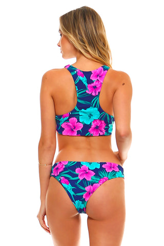 Isla Tropical Reversible Halter Top Swimsuit