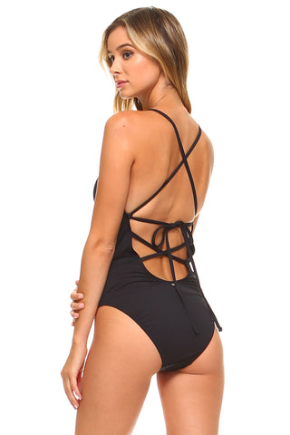 Silhouette Lace Front One-Piece Swimsuit