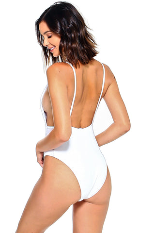 La belle Mesh-insets High Leg One Piece
