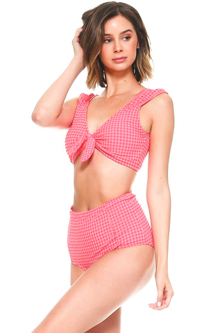 Hana Knotted Front High waist Bikini Set