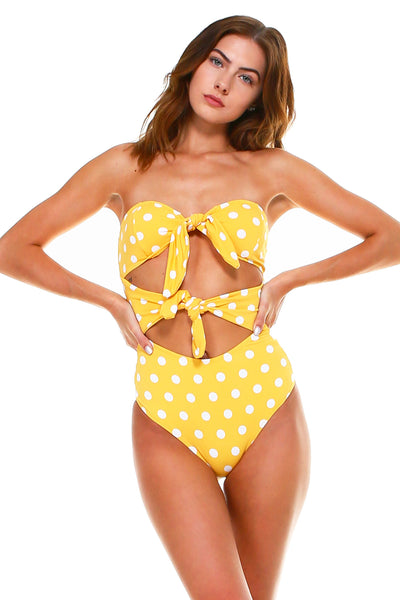 Belen Double Tie Front One Piece