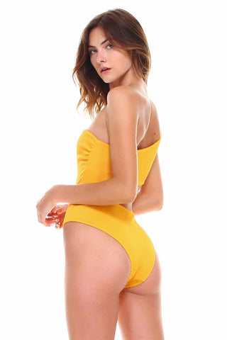 Luxe Ribbed One Shoulder Cutout One-Piece