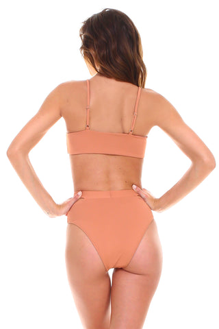 Lucia Slit High Waisted Tankini Set