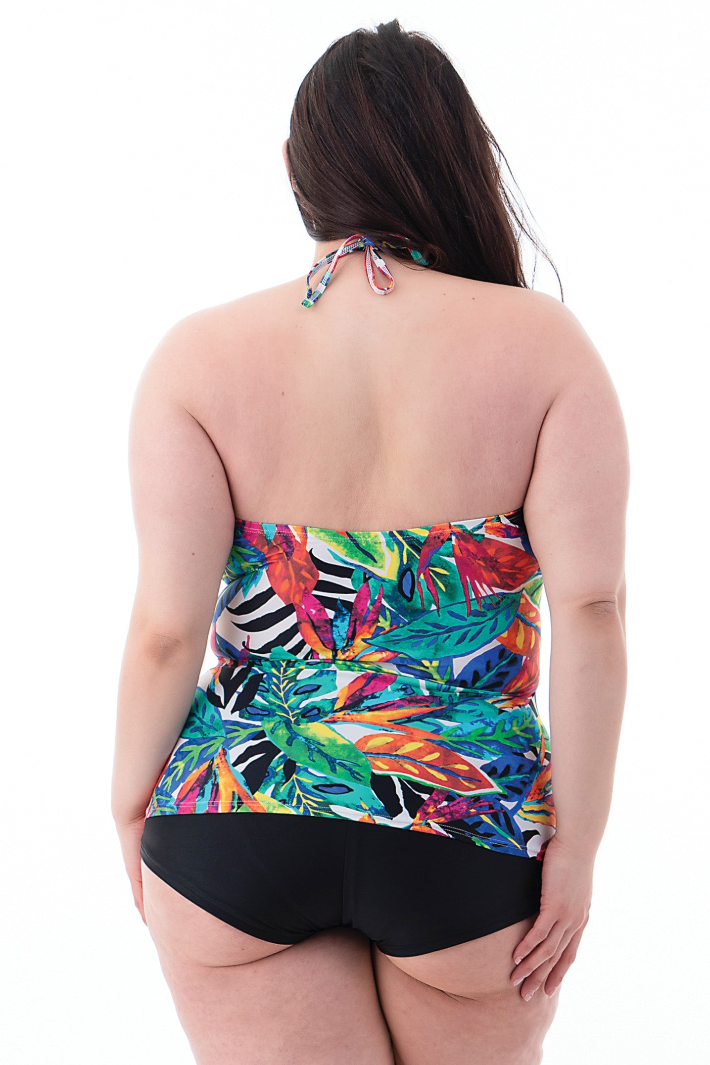 Plus Size Halter Swimsuit Top