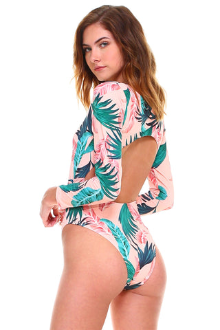 Cut-out Long Sleeves Swimsuit