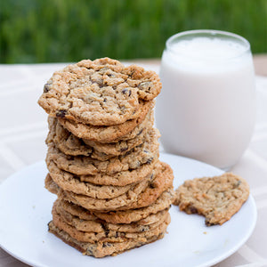 Coconut Peanut Butter Banana Chocolate Chip Cookies